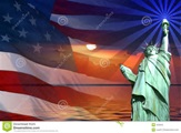 American Flag with Lady Liberty