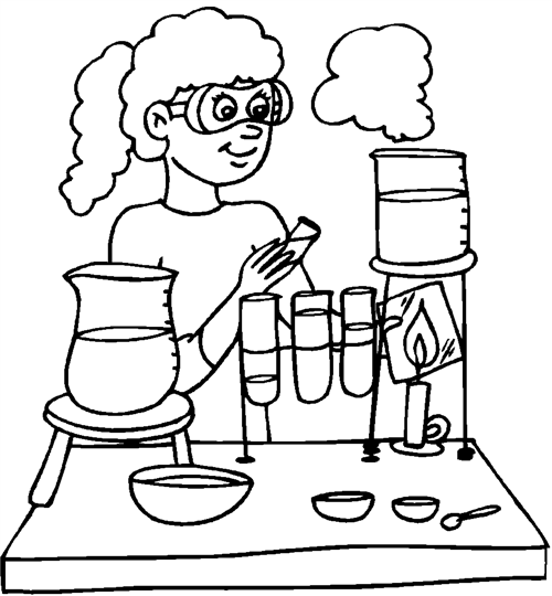 Free Coloring Pages Of School Scientist Coloring Pages Science